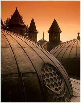 تصويری از گنبد کتابخانه بایزید عمومی استانبول